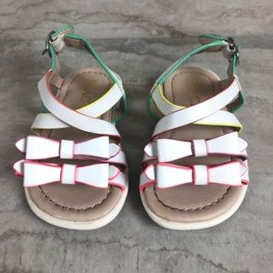 Children's Place White Strappy Bow Sandals
